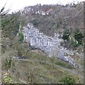 SK1573 : Ravenstor cliff from the Monsal Trail by David Lally