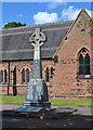 SK0405 : War memorial in the churchyard of St James, Brownhills by Robin Stott