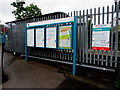 ST1871 : Information boards outside Dingle Road railway station, Penarth by Jaggery