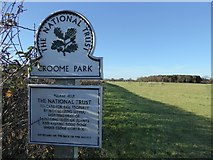 SO8845 : National Trust sign at Croome by Philip Halling