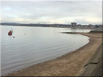 SD4464 : High tide, Morecambe by John H Darch