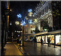 TG2208 : Christmas lights in Norwich city centre by Evelyn Simak