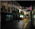 TG2308 : Christmas lights in Castle Street by Evelyn Simak