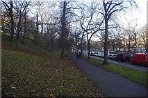NT2674 : Paths beside London Road by Richard Webb