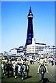 SD3035 : Blackpool Beach & Tower, Lancashire 1971 by Ray Bird