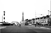 SD3035 : Blackpool Promenade, Lancashire 1971 by Ray Bird