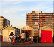 TQ2704 : Beach Huts 252-254, Western Esplanade, Hove by Simon Carey