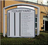 SO9568 : The Courtyard business nameboard, Bromsgrove by Jaggery