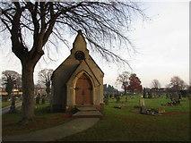 SE5023 : Cemetery chapel, Knottingley by Jonathan Thacker