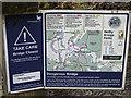 NJ0121 : Warning sign at each end of the foot bridge over the Allt Mor Burn by valenta