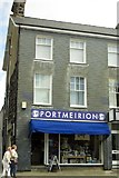 SH5638 : The Portmeirion Factory Shop on High Street by Steve Daniels