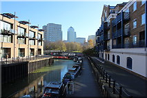 TQ3680 : Limehouse cut from the basin by Robert Eva