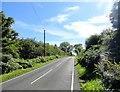 NZ0557 : Looking east along the B6309 by Robert Graham