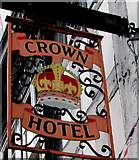 SJ6552 : Crown Hotel name sign, Nantwich by Jaggery