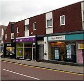SJ6552 : Three High Street shops, Nantwich by Jaggery