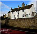 ST8893 : White cottage above Charlton Road, Tetbury by Jaggery