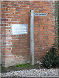 TG0723 : Footpath sign at the entrance to Brick Kiln Farm by Adrian Cable