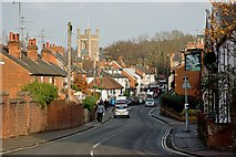 SU7682 : Greys Road & St Mary's Church tower by Roger A Smith