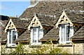 ST8082 : Cottage Windows, Jockey Row, Badminton, Gloucestershire 2011 by Ray Bird
