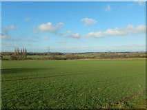 TQ2411 : Farmland and Pylons North West of Fulking by James Emmans