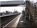 TM1279 : Norwich Bound Train approaching Diss Railway Station by Adrian Cable