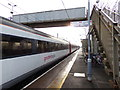TM1279 : Norwich Bound Train at Diss Railway Station by Adrian Cable