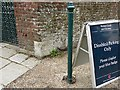TR3750 : Boundary stone at the entrance to Walmer Castle by Rose and Trev Clough