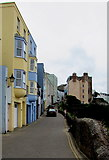 SN1300 : Up Crackwell Street, Tenby by Jaggery
