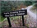 H4981 : Warning notice, Gortin Glens Forest Park by Kenneth  Allen
