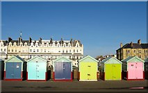 TQ2704 : Beach Huts 189-194, Western Esplanade, Hove by Simon Carey