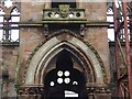 NS3975 : Old Burgh Hall: detail above main entrance by Lairich Rig