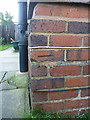SP1282 : OS benchmark - Olton, 64 Severne Road by Richard Law