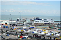 TR3341 : Ferry Docked at Dover by N Chadwick