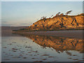 SD4574 : Reflections on the shore, Silverdale by Karl and Ali