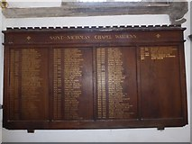 TF6120 : St Nicholas' Chapel, King's Lynn: incumbency board by Basher Eyre