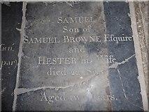 TF6120 : St Nicholas' Chapel, King's Lynn: ledger slab (VI) by Basher Eyre