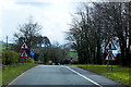 SO0826 : End of Dual Carriageway, A40 near Llanhamlach by David Dixon