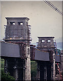 SH5371 : Britannia Bridge - after the 1970 fire by David Victor Mills