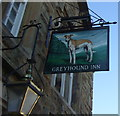 SD7530 : Sign for the Greyhound Inn, Altham West, Accrington by JThomas