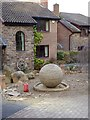 NY9363 : Stone sphere by Oliver Dixon