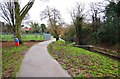 SO9570 : Footpath in Sanders Park, Bromsgrove, Worcs by P L Chadwick