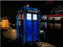 SJ8097 : Dr Who's Tardis at MediaCityUK by David Dixon