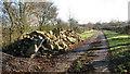 TM2991 : Concrete rubble on Wood Lane by Evelyn Simak