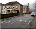 ST2390 : Gwendoline Road speed bump, Risca by Jaggery