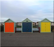 TQ2704 : Beach Huts 440-442, Western Esplanade, Hove by Simon Carey