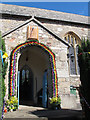 SX8189 : St Mary's church, Dunsford -  porch by Stephen Craven