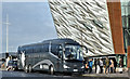 J3575 : Wild Rover coach, Titanic Quarter, Belfast (December 2016) by Albert Bridge