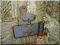 ST5055 : A swan on the gate by Neil Owen