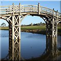 SO8844 : Croome D'Abitot church frame by the Chinese Bridge by Philip Halling