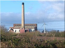ST3283 : Uskmouth B power station, Newport by Robin Drayton